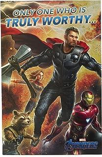 Avengers Birthday Card - Ideal Gift Card for Him - Avengers Endgame - Avengers Featuring Iron Man, Thor, Captain Marvel, Rocket Raccoon - Marvel