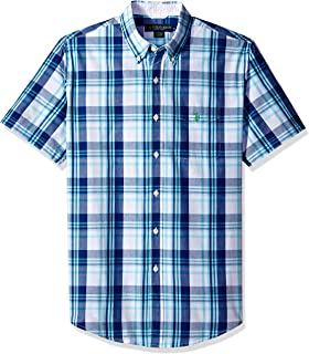 Men's Short Sleeve Classic Fit Plaid Shirt