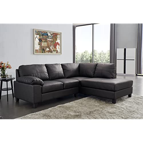 Modern Corner Leather Sofas: Amazon.co.uk