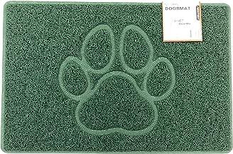 Nicoman PAW Embossed Shape Door Mat-(Use Indoor or Sheltered Outdoor), Spaghetti Doormat, Green, Medium (75x44cm)