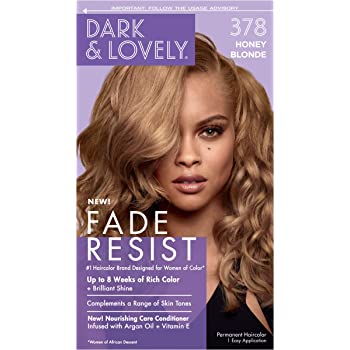 Permanent Hair Color by Dark and Lovely Fade Resist I Up to 100% Gray Coverage Hair Dye I Honey Blonde 378 I SoftSheen-Carson I Packaging May Vary
