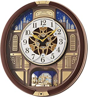 Melodies in Motion Musical Wall Clock with Rotating Pendulum