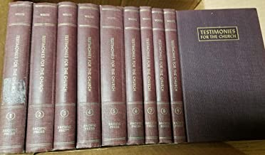 Testimonies for the Church: Comprising Testimonies Number 1 to 37 with a biographical Sketch of the Author (set of 9 volumes)