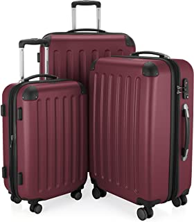 "HAUPTSTADTKOFFER - Spree - Set of 3 Hard-side Luggages Suitcase Hardside Spinner Trolley(20"", 24"" & 28"") TSA (Spree Burgundy)"