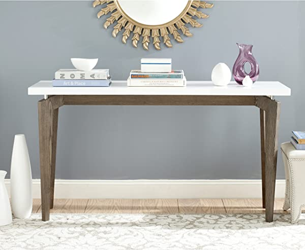 Safavieh Home Collection Josef Mid Century Modern White And Dark Brown Console