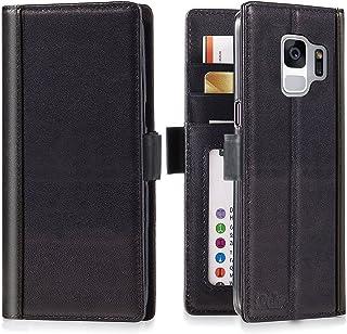 iPulse Journal for Galaxy S9 Italian Full Grain Case Leather Handmade Flip Wallet Case for Samsung Gallaxy S9 - Black