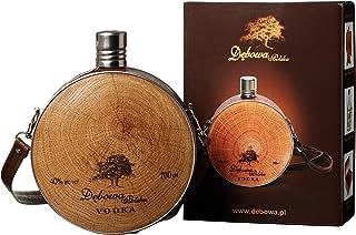 Debowa Polska Buklak Jägerflasche mit Lederband Wodka 1 x 0.7 l