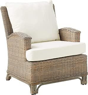 Panama Jack Sunrooms PJS-3001-KBU-LC Exuma Lounge Chair with Cushion, Light Beige