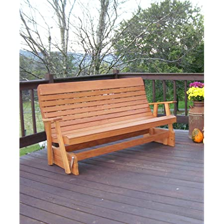 Patio Furniture Anniversary Gift KU NCAA Bench Wedding Gift 6ft Sports College Personalized - Father/'s Day - Glider