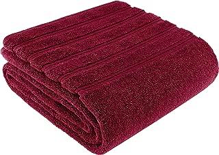 American Soft Linen Premium, Luxury Hotel & Spa Quality, 35x70 Extra Large Jumbo Size Bath Towel, Bath Sheet Cotton for Maximum Softness and Absorbency, [Worth $34.95] Burgundy