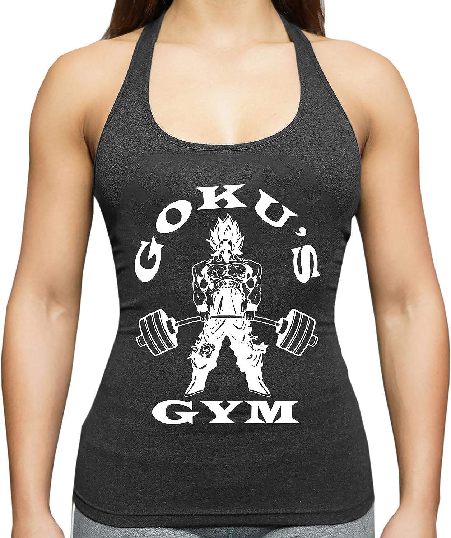 THE LION Golds Goku Gym Canotta da Donna Dragon Master Son Ball Vegeta Turtle Roshi Db