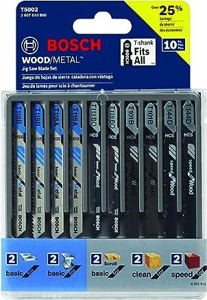 Bosch 10-Piece Assorted T-Shank Jig Saw Blade Set T5002