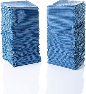 "Simpli-Magic 79185 Shop Towels 14""x12"", Blue, 100 Pack"