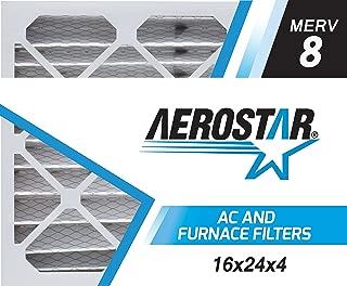 Aerostar 16x24x4 MERV 8, Pleated Air Filter, 16 x 24 x 4, Box of 6, Made in The USA