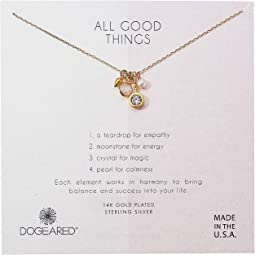 Dogeared - All Good Things, Moonstone Peal Cluster Necklace