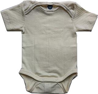 Cosilana, Body a maniche corte per neonato, 91052, in cotone/lana/seta