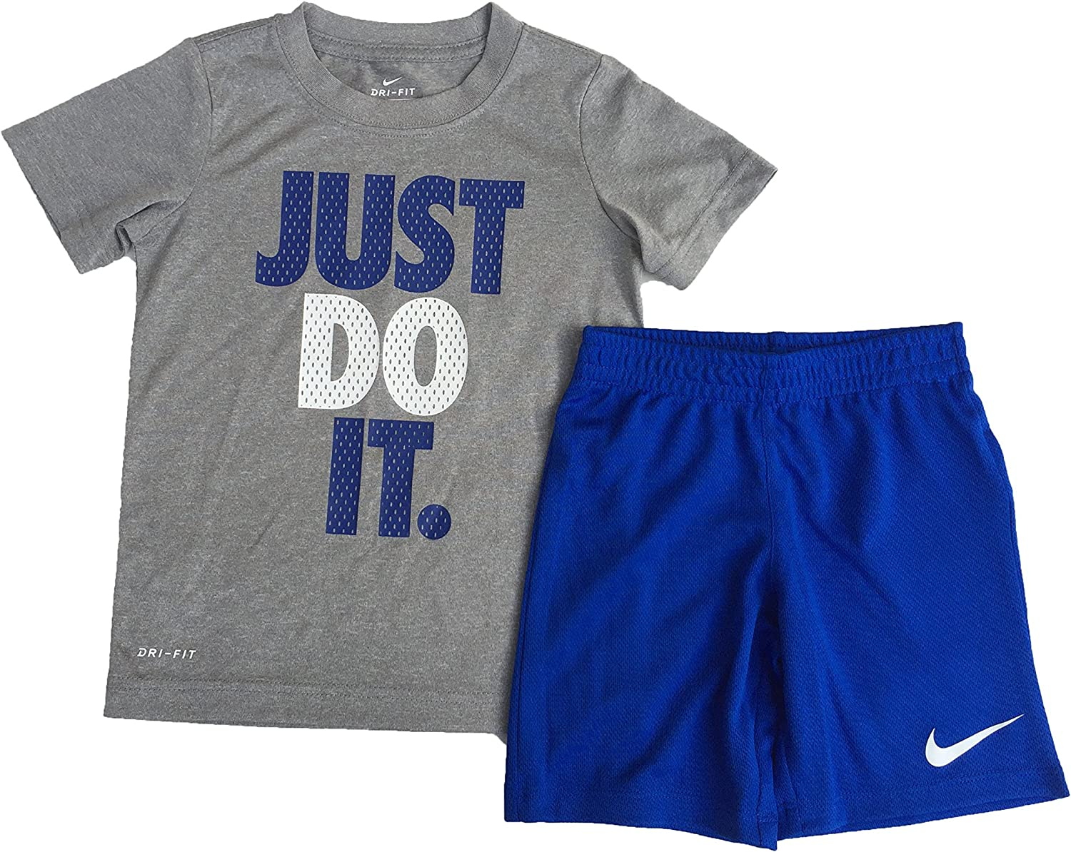 Nike Little Boys Just Do It T-Shirt and Shorts Set Game Royal Size 4