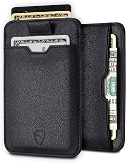 Vaultskin CHELSEA Slim Minimalist Leather Mens Wallet with RFID Blocking, Front Pocket Credit Card Holder