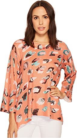 Rust Printed Trapeze Top