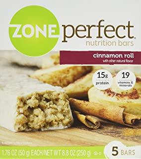 Zone Perfect Nutrition Bar, Cinnamon Roll, 5 Count [Pack of 3]
