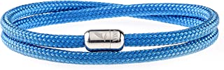 Wind Passion Lightweight Nautical Paracord Sturdy Rope Bracelet with Magnetic Clasp for Men Women