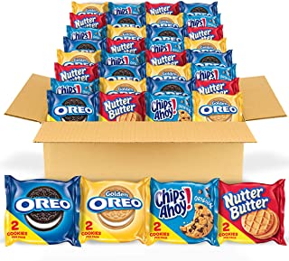 OREO Original, OREO Golden, CHIPS AHOY! & Nutter Butter Cookie Snacks Variety Pack, Halloween Treats, 56 Snack Packs (2 Co...
