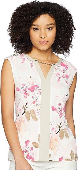 Calvin Klein Sleeveless Knit w/ Chain