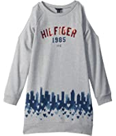Tommy Hilfiger Kids - Open Shoulder Sweatshirt Dress (Big Kids)