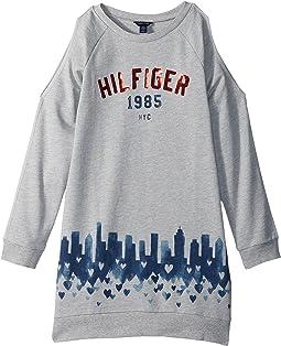 Tommy Hilfiger Kids - Open Shoulder Sweatshirt Dress (Big Kids)