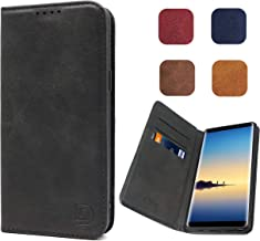 Galaxy Note 8 Wallet Case Black, Samsung Galaxy Note 8 Flip Case, Dekii [Strong Magnetic No Buckle] Business Style Leather Cover with Credit Card Slots Compatible Galaxy Note 8