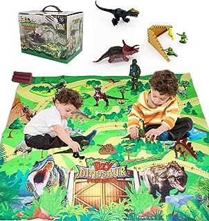 ClassicFun Dinosaur Toy Figure w/Activity Play Mat.This Kids Toy Includes Realistic Tyrannosaurus,Triceratops,Velociraptor...