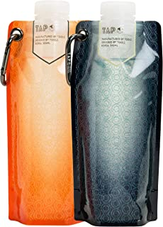 Tap Multi Function Collapsible Water Bottle BPA Free Flat Hydration Soft Canteen