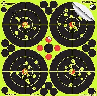 Splatterburst Targets - 6 inch Adhesive Stick & Splatter Shooting Targets - Gun - Rifle - Pistol - Airsoft - BB Gun - Pell...