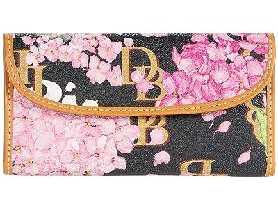 Dooney & Bourke Hydrangea Monogram Continental Clutch