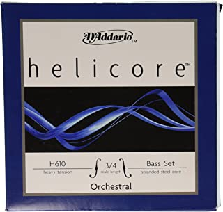 D'Addario Helicore Orchestral Bass String Set, 3/4 Scale, Heavy Tension