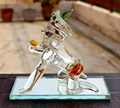 "eSplanade Krishna Laddu Gopal Kishan Murti Idol Statue Sculpture (3"") - Car Dashboard Idols | Crystal Glass"