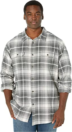 Antique White/Slate Plaid