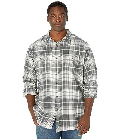 Dickies Big Tall Long Sleeve Flex Plaid Woven Shirt (Antique White/Slate Plaid) Men