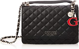 Guess Womens Cross-Body Handbag, Black - VG766721