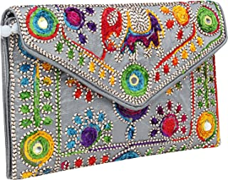 Rajasthani Jaipuri Art Sling Bag Foldover Clutch Purse-Quality Checked