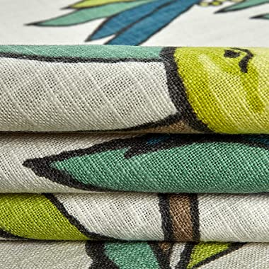 Robert Allen Home Nouveau Fruit Duck Fabric, Peacock, Fabric By The Yard