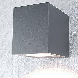 LED Lampada da parete esterno-FARETTO 1-9w ip44 1x gu10 FARETTO PARETE RETTANGOLARE GIARDINO-Lampada