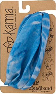 Karma Gifts Half Headband, Blue Tie Dye
