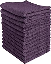 Utopia Towels Luxury Cotton Washcloth Towels Set (12 Pack, Plum, 12x12 Inches) Multi-Purpose Extra Soft Fingertip Towels, ...