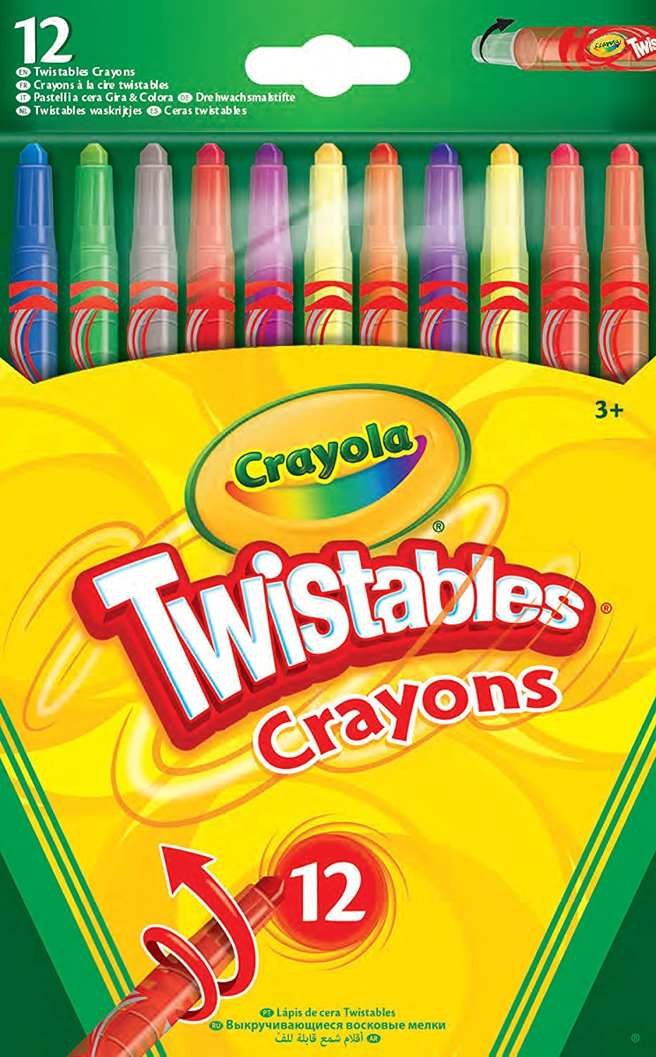 Department store Vivid Imaginations Crayola Twistable Crayons Max 82% OFF 12 pack Multi- Of
