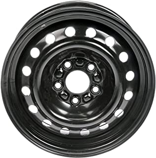 Dorman 939-180 Black Wheel with Painted Finish (15 x 6.5 inches /5 x 110 mm, 43 mm Offset)