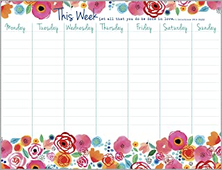 Roses and Poppies Weekly Calendar Pad with Scripture