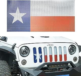 jeep wrangler texas flag grill insert