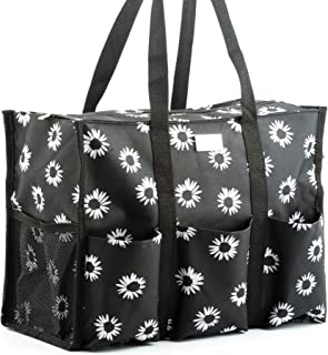 Pursetti Zip-Top Organizing Utility Tote Bag with Multiple Exterior & Interior..