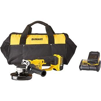 DEWALT 20V MAX Angle Grinder Tool Kit, 4-1/2-Inch (DCG412P2), Metallic
